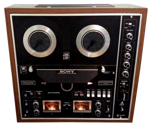 A typical home consumer stereo 4 track reel to reel tape recorder