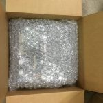 Shipping Reel-to-Reel bubble wrapped