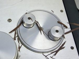 An extreme example of shedding tape